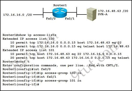 Access list questions 2 beat the ccna for Show pool cisco
